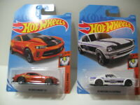 2019 Hot Wheels Lot of 2 Muscle Mania 18 Copo Camaro/'65 Mustang 2+2 Fastback