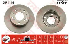 2x TRW Discos de freno delanteros Pleno 256mm Para FIAT DUCATO DF1118