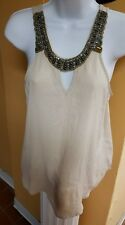 womens tops beige in a size medium the other also Brown and black in a size medi