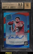 2017 Donruss Optic Preview Patrick Mahomes II ROOKIE RC AUTO /23 #177 BGS 9.5