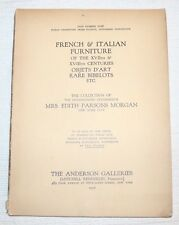 MRS EDITH PARSONS MORGAN Collection, ANDERSON GALLERIES, NY 1927 Catalog #2196
