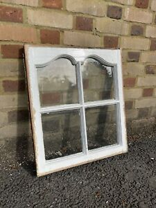 Reclaimed Old Edwardian Arch Sash Wooden Window 603 x 525mm