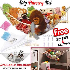 Cuddly Large Soft Toy Hammock Storage Mesh Net Teddy Bear Baby Bedroom Nursery