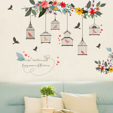 Branch Birdcage Flower Removable Wall Art Decal Vinyl Stickers Kids Home Decor