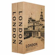 Barska London & London Dual Book Stash Box Lock Box Safe with Key Lock CB13056