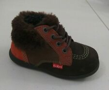 New $80 Kickers Kids Toddler Baby Boys Boots Shoes Leather Sz 8 Usa/24 Euro