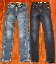 GIRLS LOT JEANS SIZE 10 Slim ALL ABERCROMBIE 1-NWT jeggings Skinny