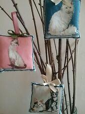 Little hangers fabric mini cushions x 3 different cat pillow hangers pin cushion