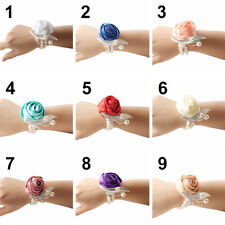 Wrist Corsage Bracelet Bridesmaid Hand Flowers Wedding Party Corsage Decor