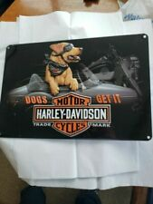 Harley-Davidson Dogs Understand Embossed Tin Sign 10.5 X 16.5 Inches 2011241