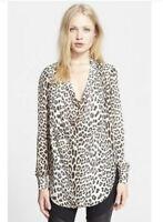Haite Hippie Silk Cowl Neck Silk Long Sleeve Blouse Nordstrom Shopbop Xs