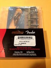 Genuine Fender Vintage Telecaster 3 Saddle Bridge Chrome w / Brass Saddles