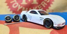 Black 1/64 RE30 Rubber Wheels Real Riders Hot Wheels Matchbox Audi Ford Mazda