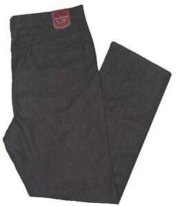 Jeans uomo taglie forti dalla 57 alla 75 pantalone elasticizzato leggero nero