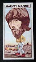 HARVEY MANDEL  Canned Heat Guitarist    Original 1970's  Illustrated Card   EXC