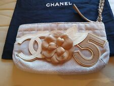 Chanel Camellia No 5 Clutch Bag Handbag Genuine