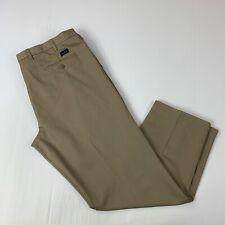 Dockers Mens Size 46 x 34 Khaki Flat Front Pants Classic Fit Big & Tall