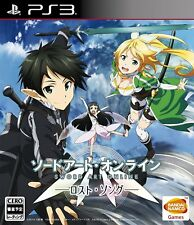 Used PS3 Sword Art Online Lost Song Japanese Version Free Sipping Japan Seller