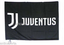 Bandiera Gigante Juventus originale nuovo logo 2017 ufficiale nera juve 100x140