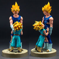 Dragon Ball Z Anime Figure Vegeta and Trunks Super Saiyan Toy Gifts Model In Box