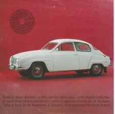 Saab (96) 2-Door Sedan 2-Stroke Brochure / Leaflet - 1965