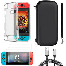 For Nintendo Switch Accessories Case Bag+Shell Cover+Charging Cable+Protector