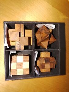 4pcs 3D Wooden Burr Puzzle