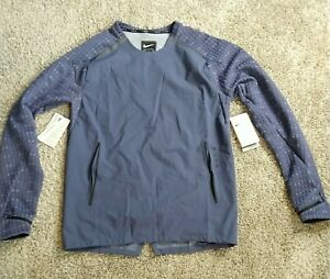 Nike Tech Pack Mens Long Sleeve Running Top Sanded Purple Size Small BV5683-557