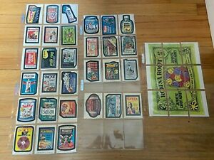 1975 Topps Wacky Packages Original Series 14 Complete Set Plus Full Puzzle