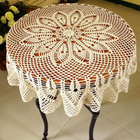 "Handmade Crochet Doilies Placemat Flower Cotton Lace Doily 35"" for Home Sofa"