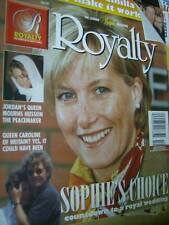 Royalty Magazine V15 #10 Sophie, Queen Noor In Mourning, Charles & Camilla,