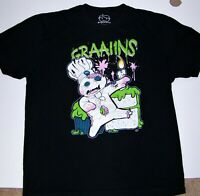 Black Zombie Grains not Brains T-shirt Funny Goodie Two Sleeves Size XL