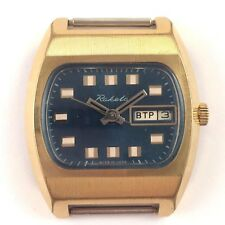 Amaizing Soviet RAKETA windup watch TV-dial AU10 USSR 1960s *US SELLER* #1320