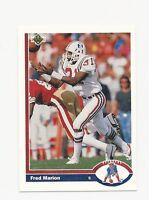 Fred Marion Patriots 1991 Upper Deck #375