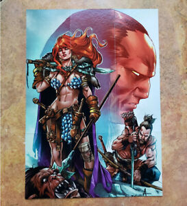 ⚔ 2020 RED SONJA She-Devil 9-Card Double-Sided Puzzle Cards Set ⚔