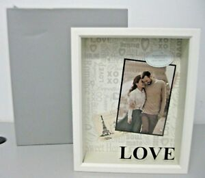Love Shadow Box Things to Remember Wedding Gift White Frame New in Box