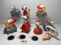 Snoopy Mcdonalds Happy Meal Toys - BUNDLE 7x