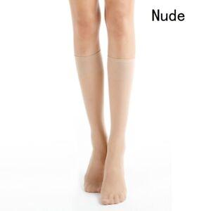 5 Pairs Lady Short Stockings Sheer Elastic Knee Length Thin Silky Slim Socks New