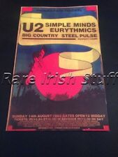 U2 Simple Minds Eurythmics Phoenix Park In Dublin Ireland 1983 - Rare Ad Print