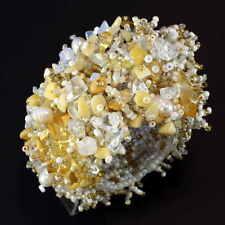Diseñador de noble pulsera elástica con verdaderas piedra lunar astilla beads b072