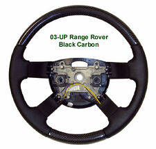 Range Rover L322 2003-12 Carbon Fiber & Napa Leather Black Custom Steering Wheel