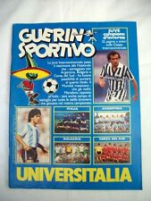 GUERIN SPORTIVO=N° 51/52 1985 ANNO LXXIII=INSERTO JUVENTUS MONDIALE=MESSICO 86