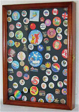 Pin Button Medal  Display Case Wall Cabinet Shadow Box, PC01-WALN