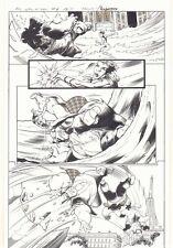 All-New X-Men #6 p.4 - Iceman & Oya vs. the Blob Action 2016 art by Mark Bagley