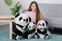 70CM LARGE ENORMOUS PANDA GIFT CUDDLY GIANT SOFT TOY TEDDY HUGE STUFFED BAMBOO