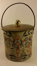 Vintage Baret Ware lunch pale bucket cookie cannister tin England period piece