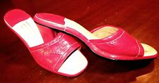 Shoes 1970's Style J.C. Penny DIVA DISCO Red Patent Leather MULES Glam PROM 9M