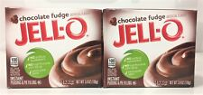 Jello Chocolate Fudge Instant Pudding & Pie FIlling 3.9 oz ( 2 Boxes )