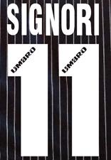 Lazio Signori local Camiseta De Fútbol Número Letra calor fútbol 96 MAGLIA UMBRO