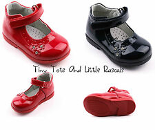 Toddler Girls Patent Shoes Sandals Leather Insole Occasion Party Size 3 - 7 NEW!